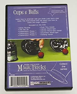 Amazing Easy to Learn Magic Tricks: Cups and Balls with DVD, Money Magic DVD, Spongeballs with DVD and Emerson and West's The Shaggy Dog Tale Packet Trick