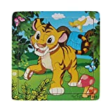 Towallmark(TM)Wooden Puzzle Educational Developmental Baby Kids Training Toy (Tiger)