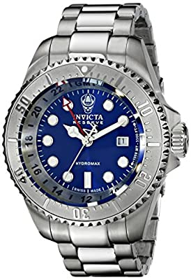 Invicta Men's 16959 Reserve Analog Display Swiss Quartz Silver Watch