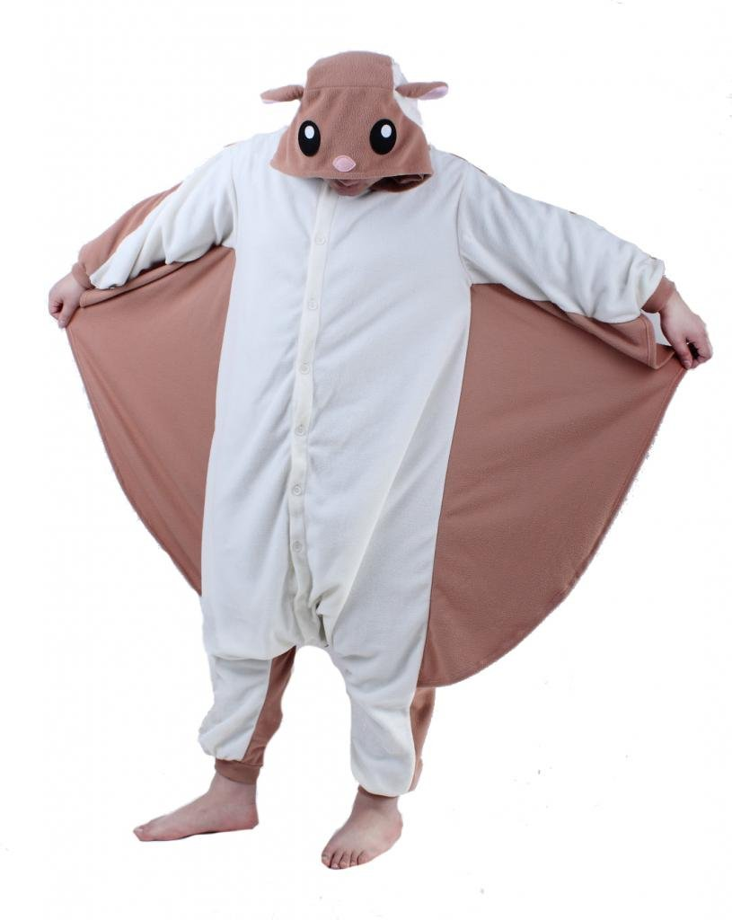Rnmomo Unisex-Adult Kigurumi Flying Squirrel Pajamas