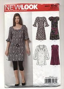 New Look Misses Dress, Top, Belt Sewing Pattern #6752