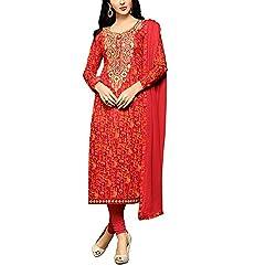Applecreation dress dresses for women party wear dress materials for women Red Cambric Designer Salwar Kameez
