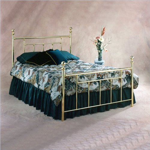 Hillsdale Furniture 1036Bfr Chelsea Bed Set With Rails, Full, Classic Brass front-988223