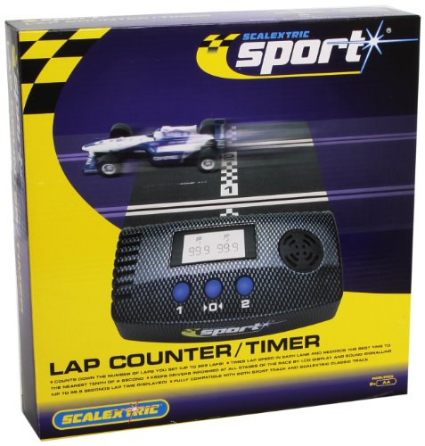 Scalextric C8215 Lap Counter/Timer Incl. X2 175mm Track and X1 straight converter Lap Counter Slot