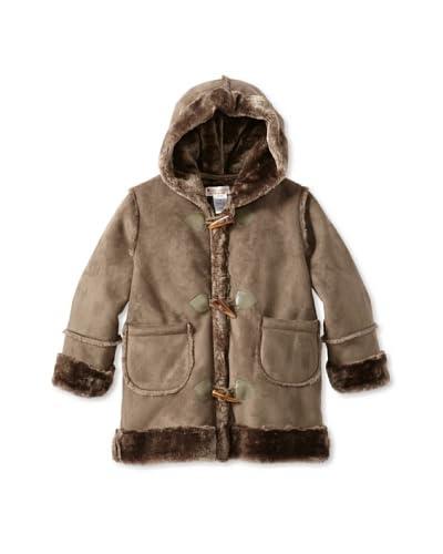 Hippototamus Boy's Faux Shearling Toggle Coat  [Olive]