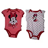 Disney Minnie Mouse Baby Girls Creepers and Bib Set - 3 Piece Polka Dots & Pink
