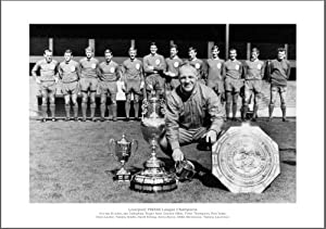 Liverpool Fc Bill Shankly 1966 League Champions Team Photo Memorabilia