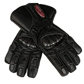 EXO 2 StormShield Heated Waterproof Leather Motorcycle Gloves with Kevlar Knuckles