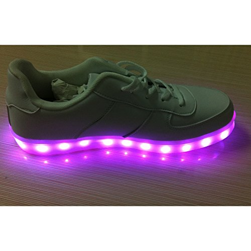 Acever Flashing Shoes Usb Charging Led Casual Shoes Women'S Led Shoes Led Sneakers Christmas Cosplay Multi-Color (Us8-Women)