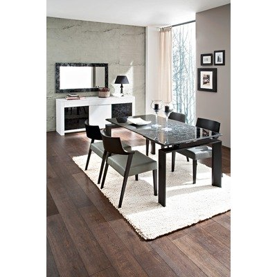 Cheap Domitalia TREND.T.149F.LNO/LIRICA/XTRA.C.SP1.VND/BASS.M.3C0. Trend Dining Table with Lirica Chairs, Xtra Mirror and Bass Sideboard (B0043JI8NA)