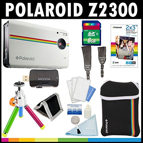 polaroid-z2300-10mp-digital-instant-print-camera-white-with-8gb-card-pouch-tripod-zink-paper-30-pack