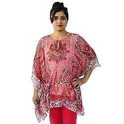 Etti Be Trendy Women's Kaftan (ES296_Pink_Free Size)