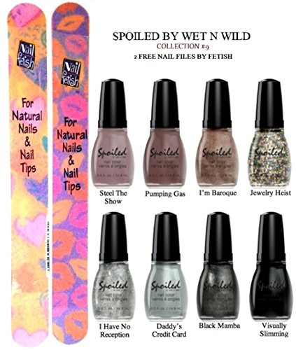 WET-N-WILD-Spoiled-Nail-Color-COLLECTION-9-OF-8-Shades--Plus-2-Free-Nail-Files-From-fetish-for-Natural-Nails-And-Nail-Tips