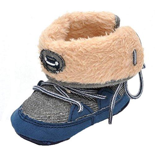 Scarpine Neonata,Xinantime Scarponi da Neve Scarpe Morbide Boots Toddler (11, Blu)