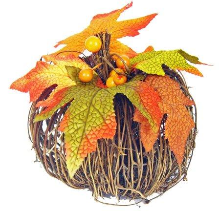 Transpac Decorative Primitive Twig Pumpkin