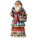 Jim Shore for Enesco Heartwood Creek Santa with Toy Basket Figurine, 9.75-Inch