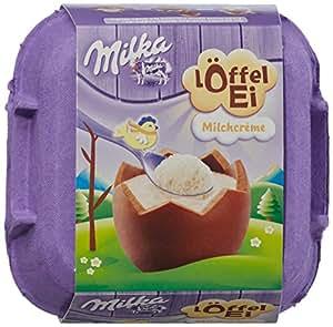 Milka Löffel-Ei, Milchcrème, Schokoladeneier, 136g, 2er Pack (2 x 136 g)