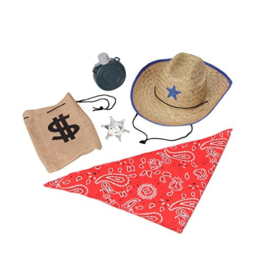 Kids Brown Cowboy Accessory Dress-Up Set