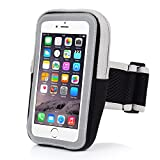 iPhone 7 Armband,iPhone 6 Sports Armband- Badalink Running Cell Phone Holder Case Arm Band Strap With Zipper Pouch Mobile Exercise Workout for iPhone 7 6 6S iPod Touch - Black
