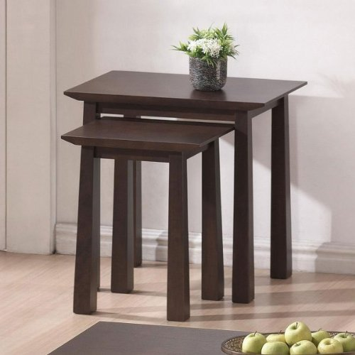 Baxton Studio Havana Wood Modern Nesting Table Set, Brown