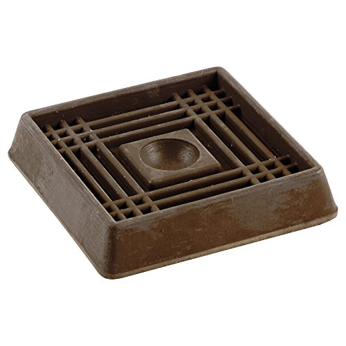 Shepherd Hardware 9076 2 Inch Square Rubber Furniture Cups 4 Pack Pet Bed Cat Beds And Dog