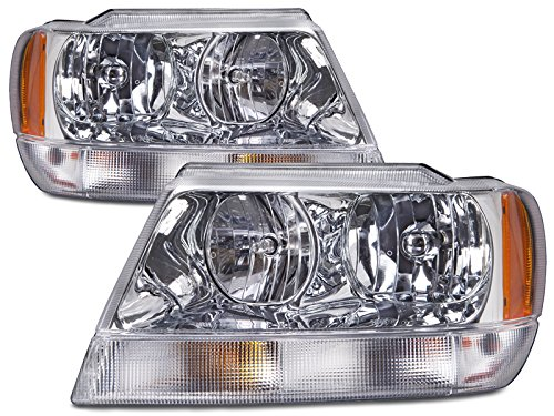 Jeep Grand Cherokee Limited Headlights OE Style Replacement Headlamps Driver/... (2000 Jeep Grand Cherokee Limited compare prices)