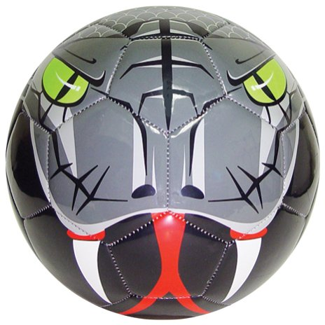 Vizari Snake Soccer Ball (Silver/Black/Red/Green, 3) - 1