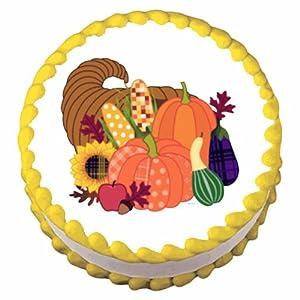 "2"" Round ~ Fall Harvest Thanksgiving ~ Edible Image Cake/Cupcake Topper!!!"