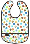 Kushies Waterproof Bib, White Circle,…