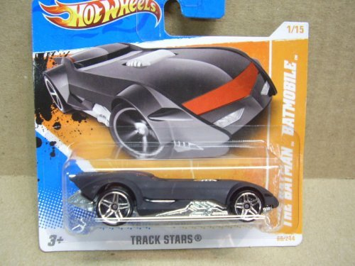 Hot Wheels 'The Batman' Batmobile 2010 1/15 Track Stars - Short Card - 1