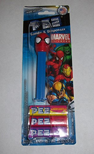 Marvel Universe Spider-Man Spiderman PEZ Candy & Dispenser