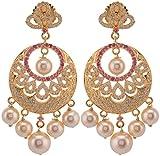 Violet & Purple Gold Plated Dangle & Drop Earrings For Women (1000031087)