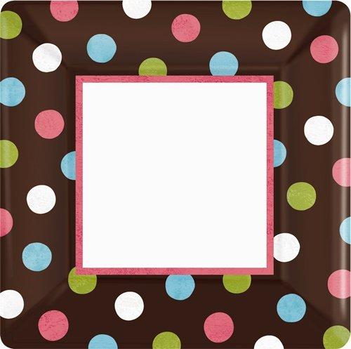 Warm Polka Dot Banquet Plates (18 per package)