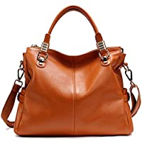 PASTE Women's Genuine Leather Hobo Tote purse satchel Handbag/Shoulder Strap Brown
