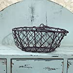 The Country House Collection 6.25'' D Oval Chicken Wire Basket