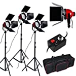 3x 800W (2400W) Video Dimmable Red He...