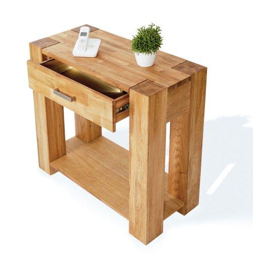 SAM-Telefontisch-Abstelltisch-Sit-Zeus-1684-01-90-cm-Holztisch-aus-teilmassiver-Wildeiche-Beistelltisch-mit-praktischer-Schublade-natrliches-Design