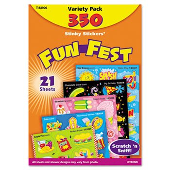 6 Pack Stinky Stickers Variety Pack, Mixed Shapes, 350/Pack by TREND (Catalog Category: Paper, Pens & Desk Supplies / Teacher's Aids)