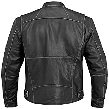 River Road Rambler Vintage Mens Black Leather Jacket