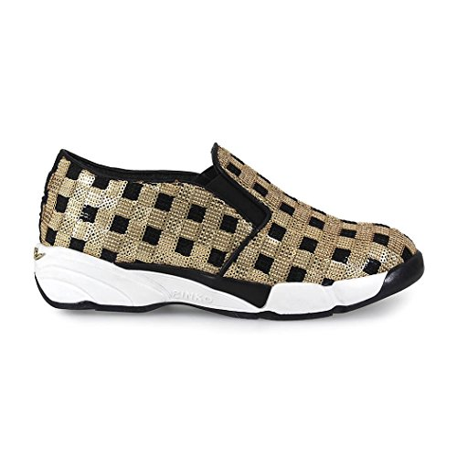 SNEAKERS SLIP ON SEQUINS 1 GOLD PINKO