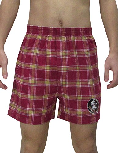 NCAA Florida State Seminoles MENS Plaid Sleepwear / Pajama Shorts ncaa central florida knights aztec can koozie set of 4