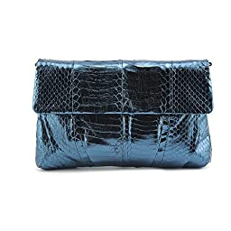 Inge Christopher Erin Snaksin Envelope Clutch, Peacock, One Size