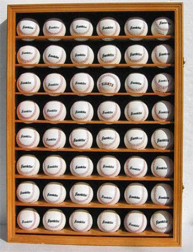 48 Baseball Display Case Cabinet Holder With Uv Protective Door Locks (48 Baseball Display Case compare prices)