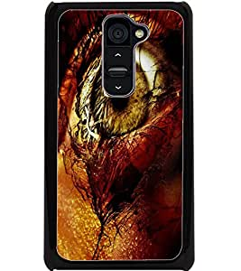 ColourCraft Amazing Eye Design Back Case Cover for LG G2
