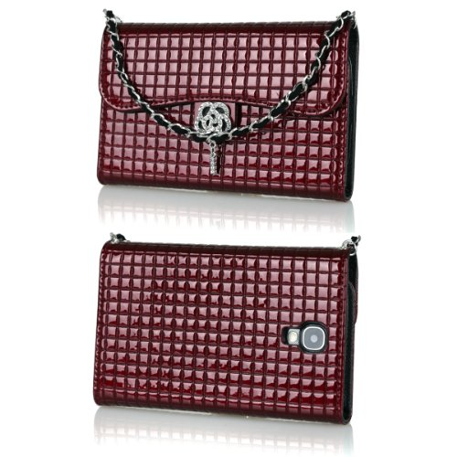 Ihand Handbag Clutch Wallet Case With Bling For Samsung Galaxy S4 Siv S Iv I9500 [Retail Package] - Burgundy