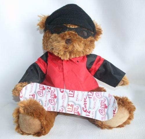 liz-claiborne-plush-stuffed-animal-bear-snowboard-snow-board