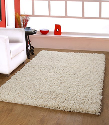 Diwali Mega Offer For Limited Period Only..CENTRA HOME PAPER SHAG COLLECTION... Handmade Rug Make You feels Elegance, Soft & Rich 3.6x5.6ft Vanilla