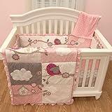 Little Birdie Garland 5 Piece Crib Bedding Set