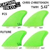 """CAPTAIN FIN  キャプテンフィン CHRIS CHRISTENSON TWIN 5.12"""" クリス・クリステンソン ツインフィン (FUTUREタイプ)"""