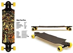 "Landyachtz Nine Two Five 9 to 5 2012 Freeride Drop-Thru Longboard Deck Complete 40.5"" w/ Slide Wheels & Factory Parts"